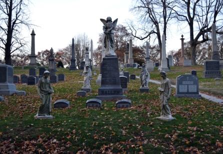 greenwood cemetery angel gravestone