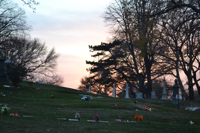 greenwood cemetery sunset